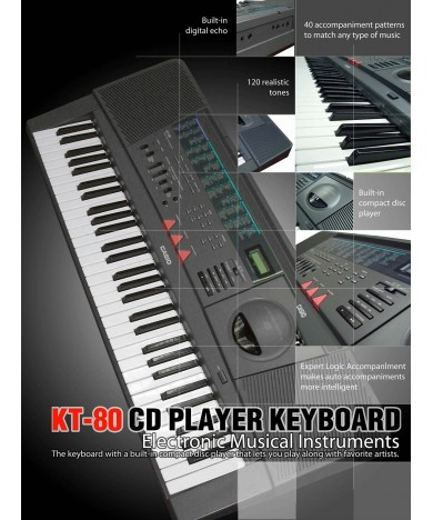 CD Player Keyboard - KT-80