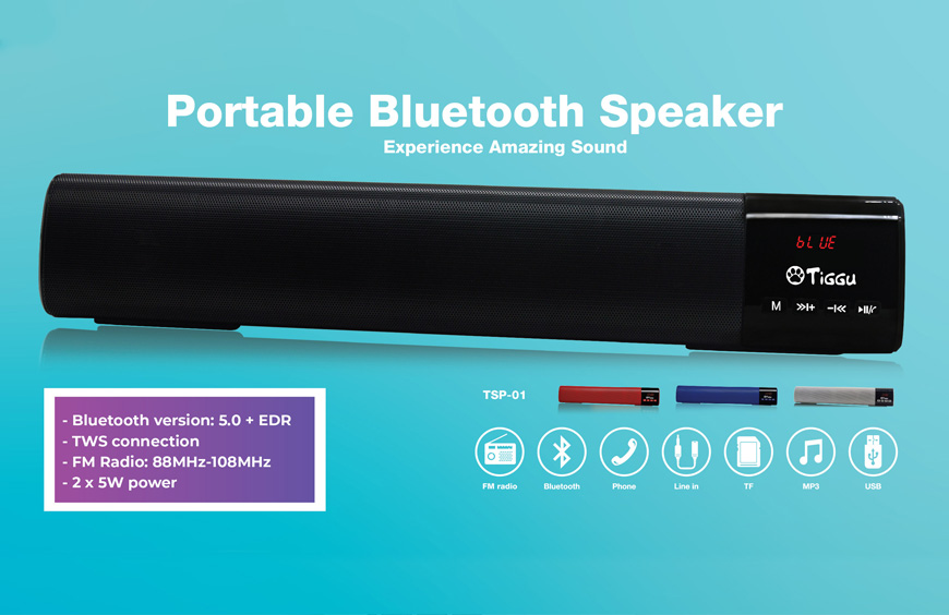 Portable Bluetooth Speaker Bar