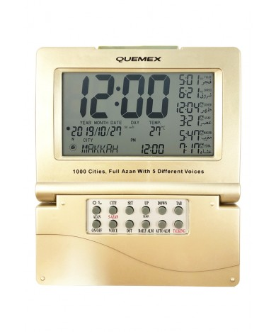 Auto Islamic Azan Clock With Qibla Direction 1000 Cities - TAC-485-CH